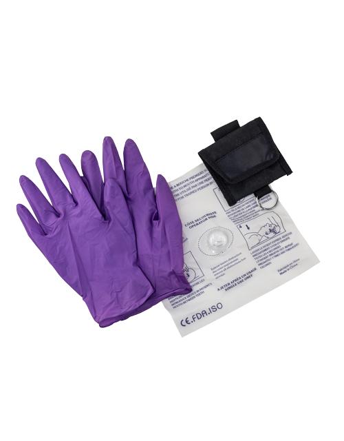 Porte-clé avec gants et masque RCR jetables